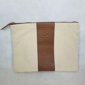 Handbags - Linen & Leather B Monogram Bag
